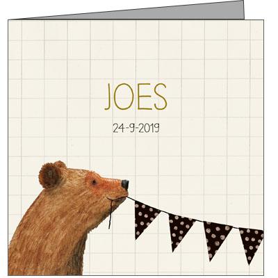 Geboortekaartje Joes